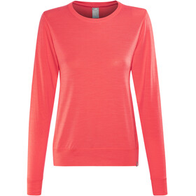 Icebreaker W's Mira LS Crewe Shirt poppy red
